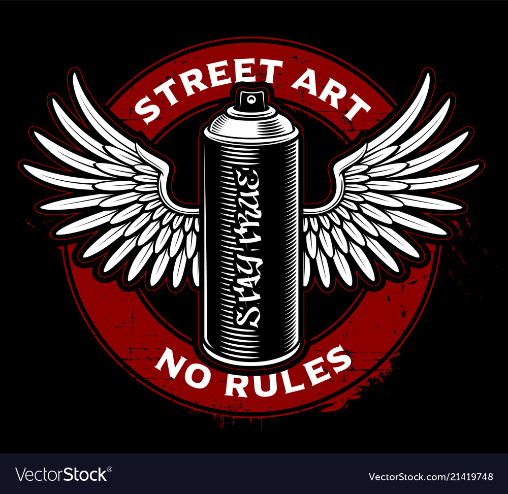 graffiti spray can with wings royalty free vector image
