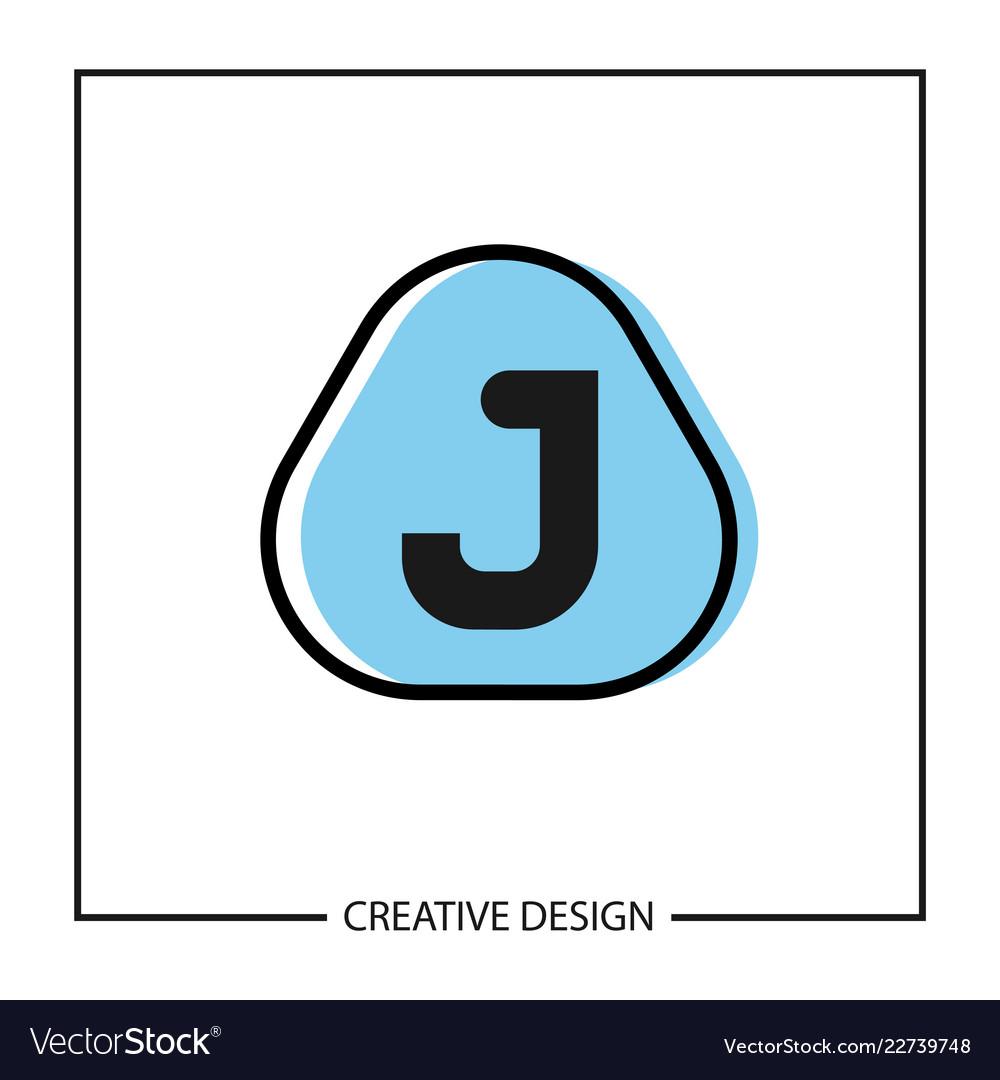 initial letter j logo template design vector image