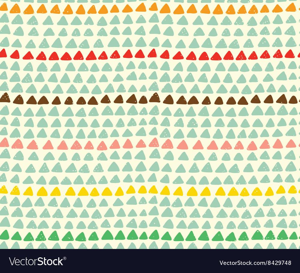 Seamless hand drawn triangle pattern