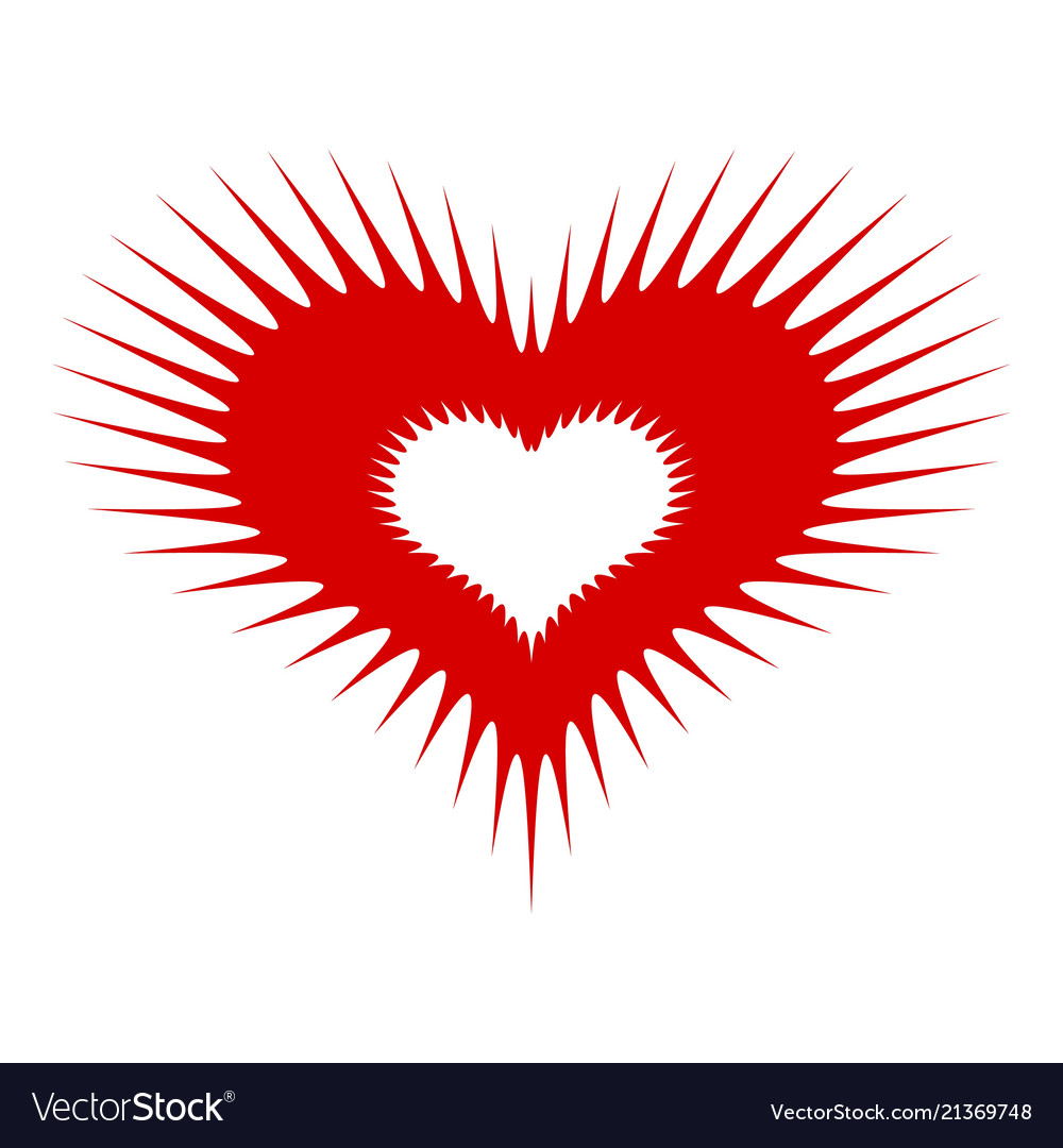 Spiked heart icon simple style