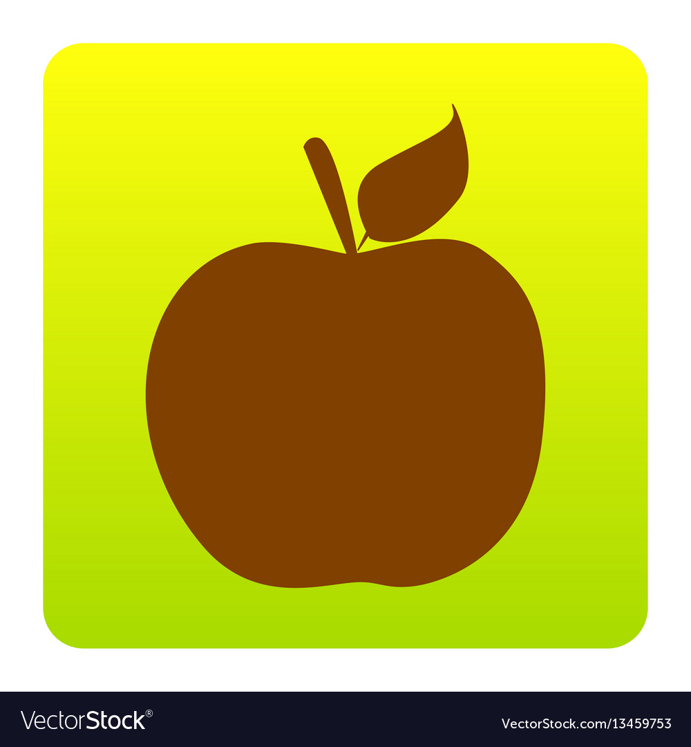 apple sign brown icon at royalty free vector image