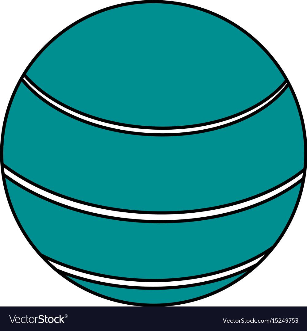 Ball sport blue flat