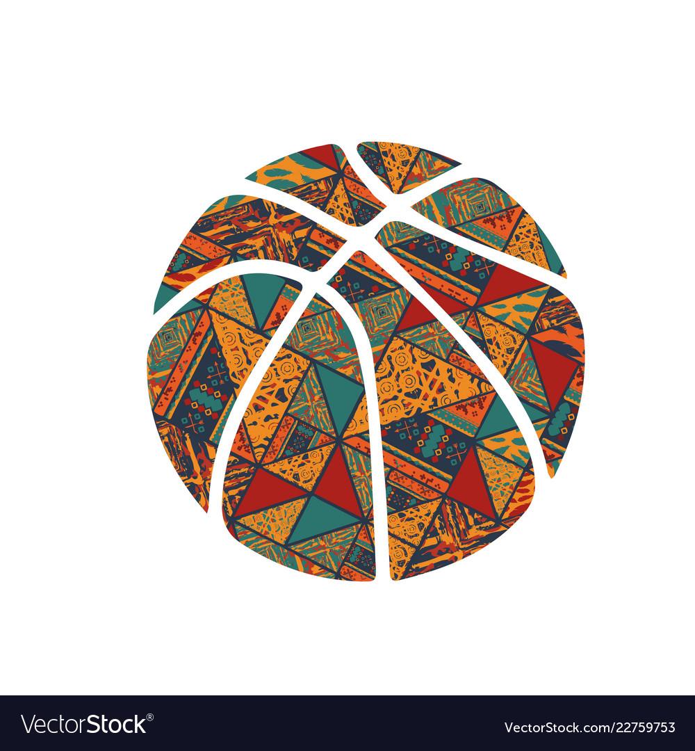 Basketball pattern symbol