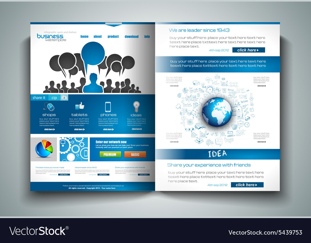 Bifold Brochure Template Design Or Flyer Layout Vector Image - Buy flyer templates