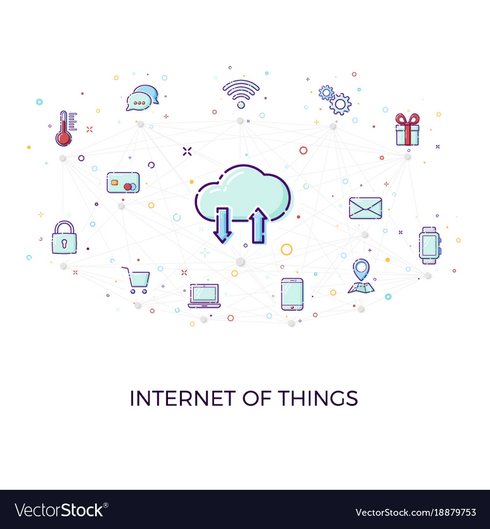 Concept internet of things cloud network concept