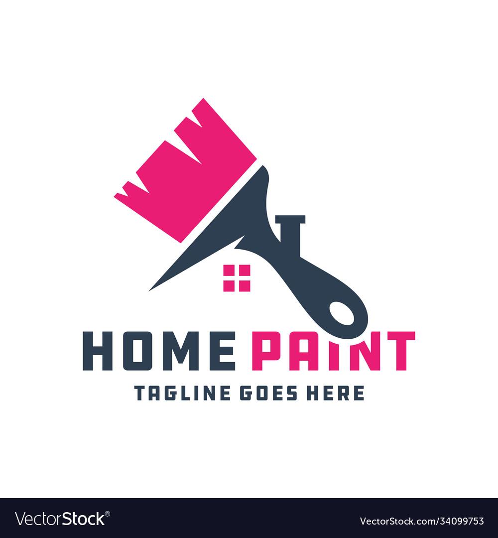 House building paint logo