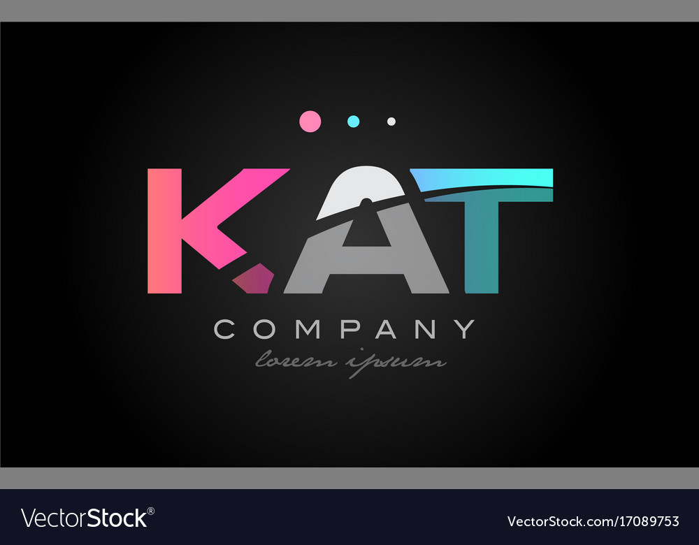 Design Voor Katten : Kat k a t three letter logo icon design royalty free vector