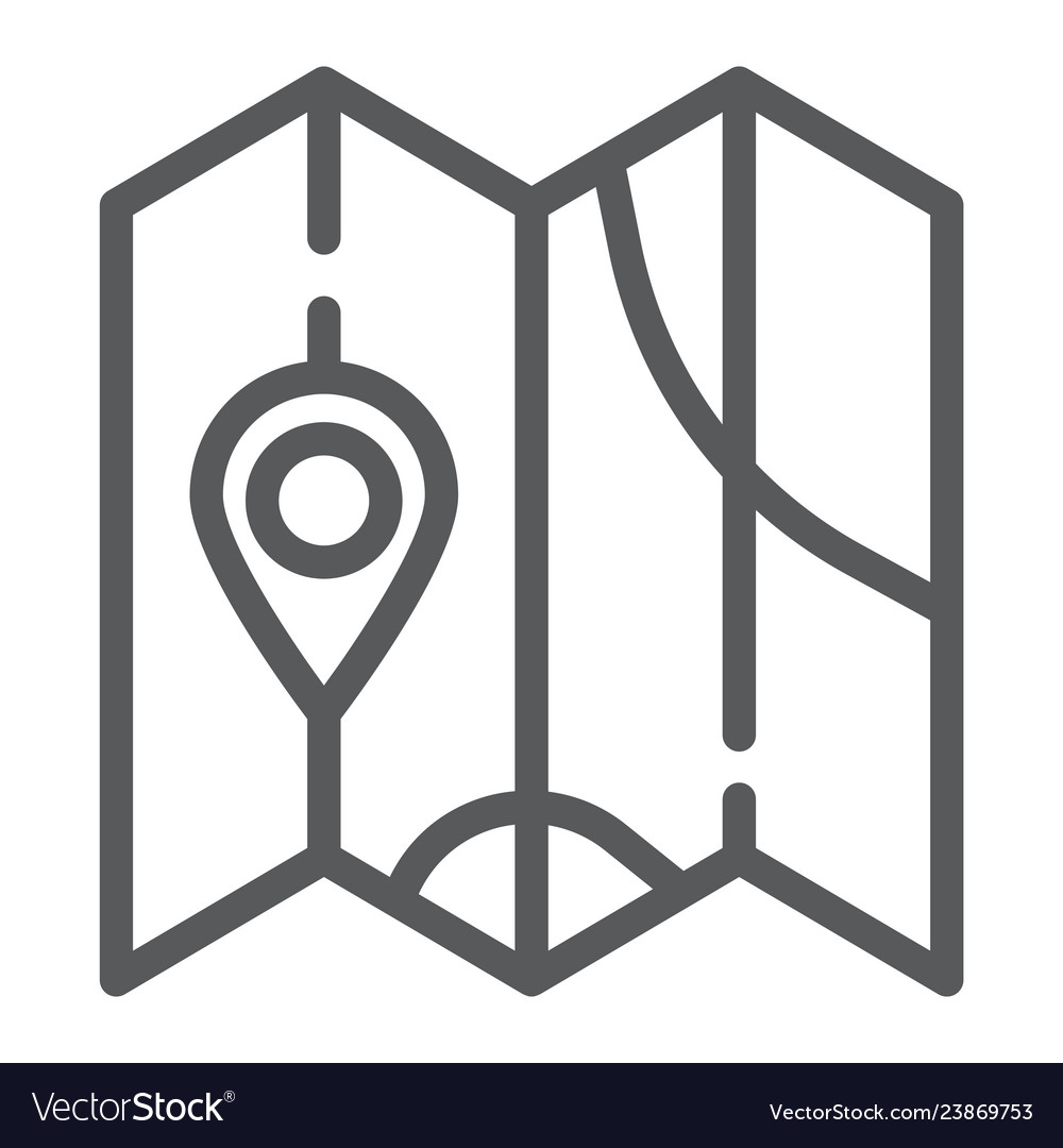 Map line icon direction and location navigation Vector Image Direction Symbol On Map on