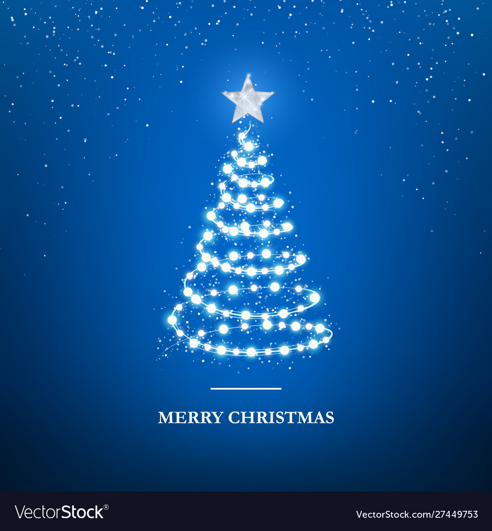 Merry christmas greeting card template garland in