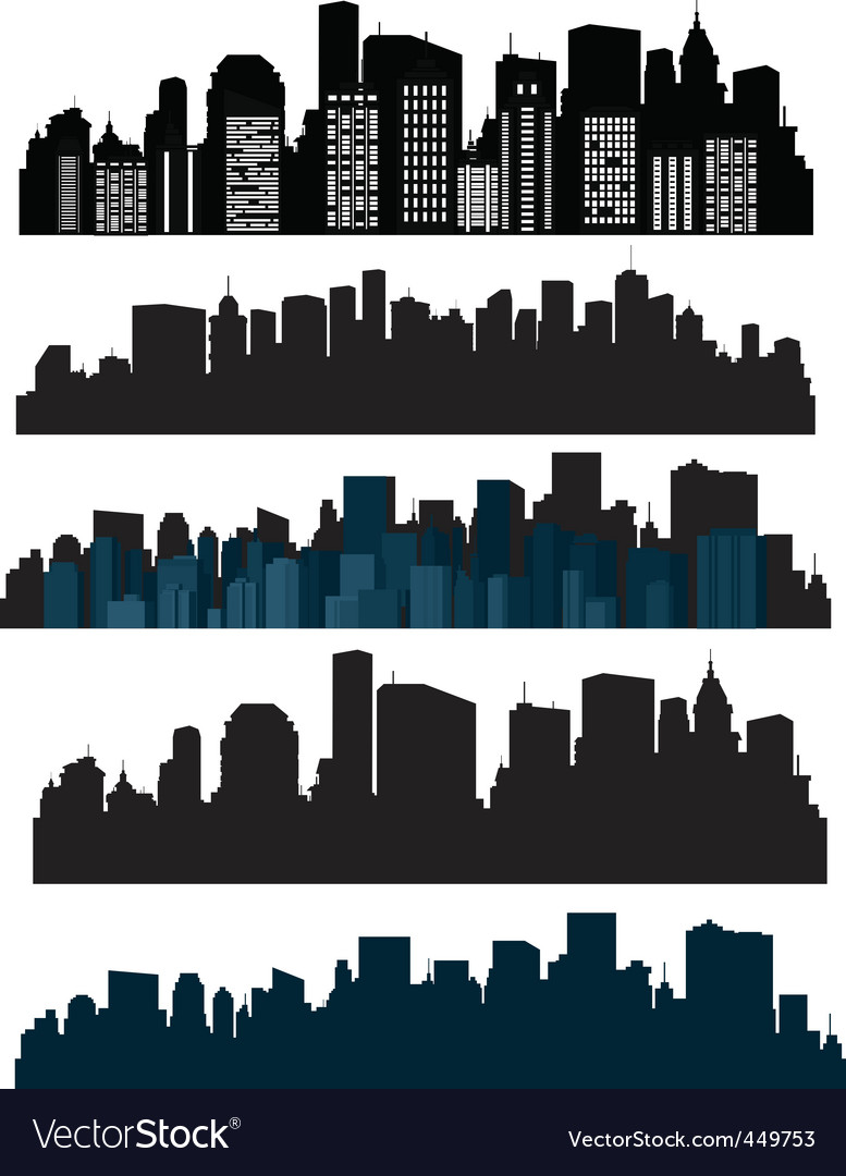 Silhouette cities vector image