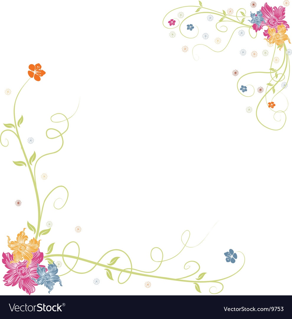Spring Flower Border Royalty Free Vector Image