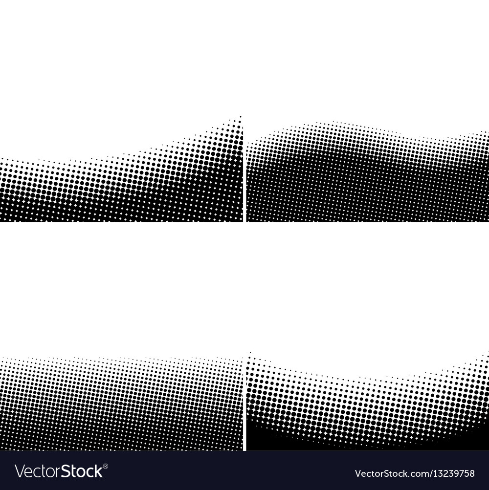 A set of border black and white halftone