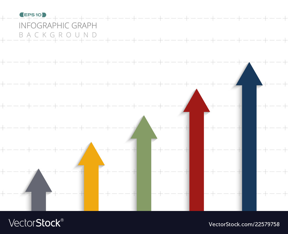 Abstract of colorful infographic arrow business