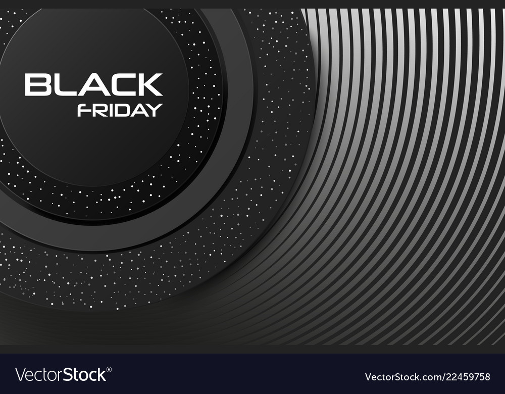Black friday sale poster or banner commercial