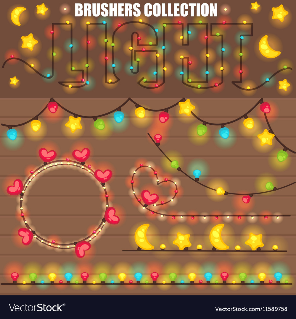 Christmas or New Year design with wooden vector image