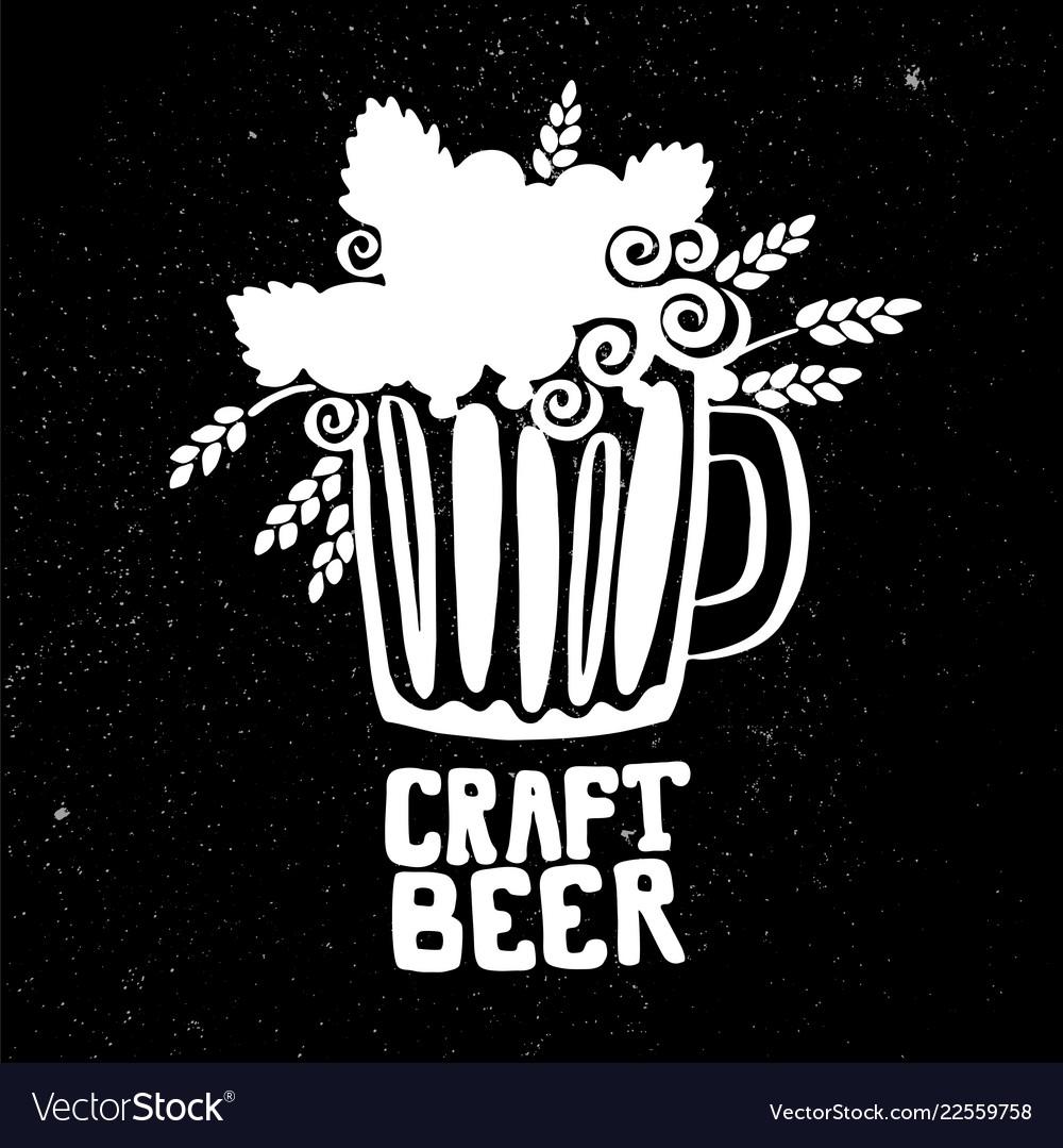 Craft beer hand drawn elements