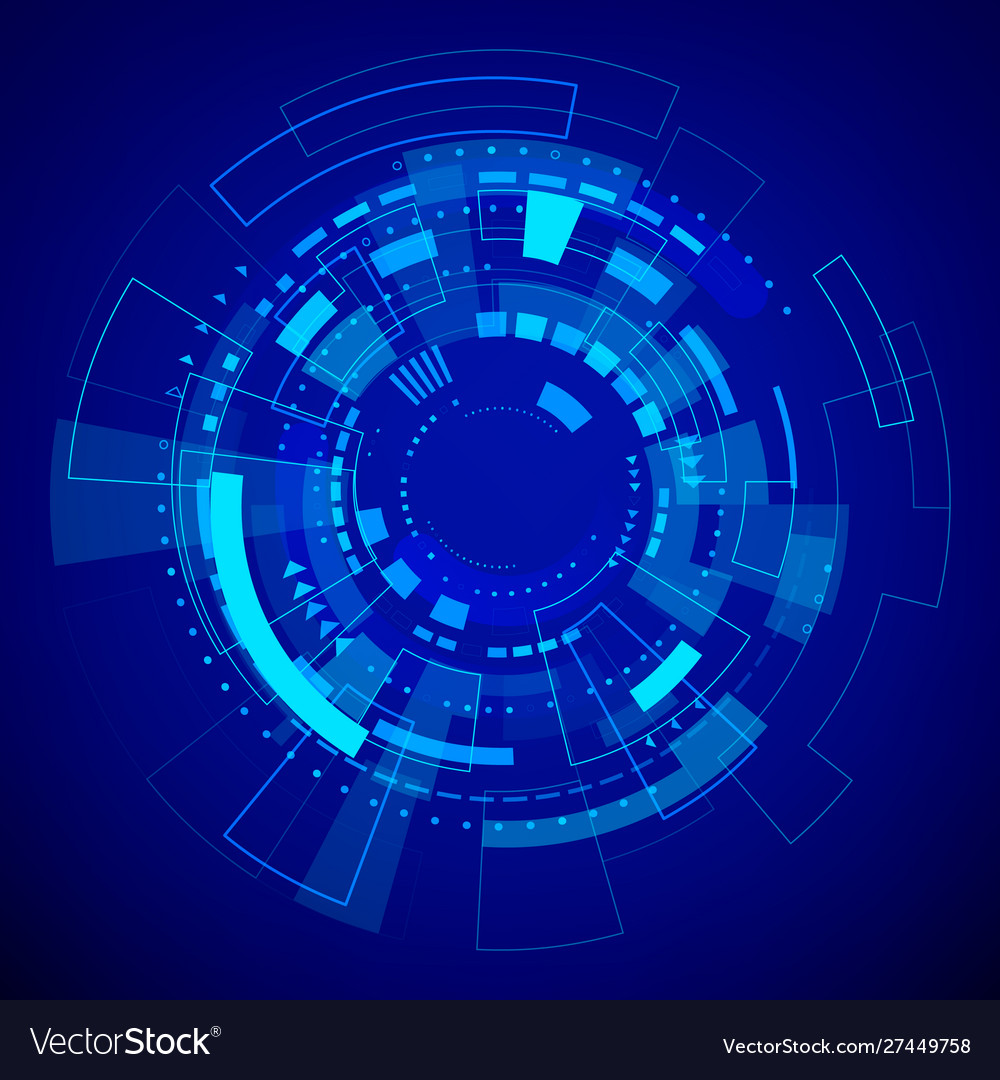 Futuristic technology pattern blue abstract