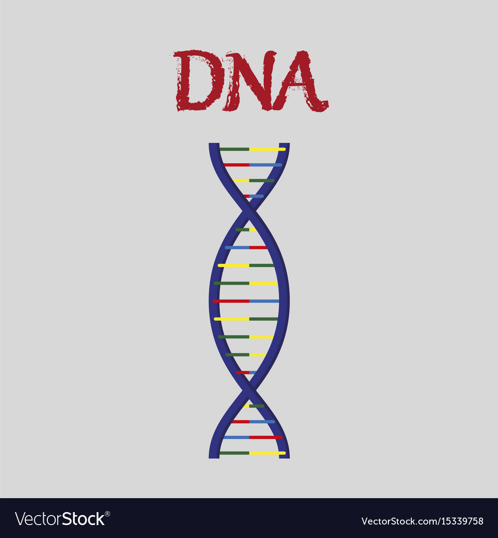Human organ icon in flat style dna
