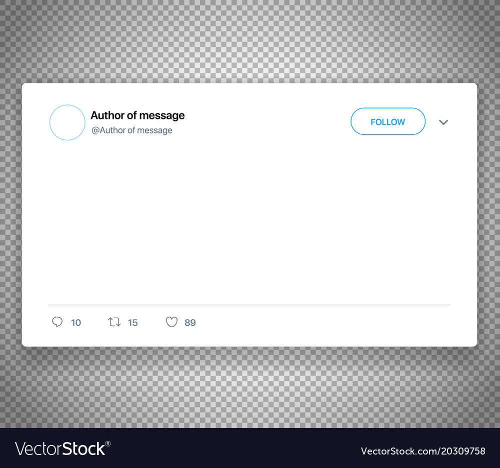 Modern Social Media Post Template Isolated On Vector Image - Social media post template