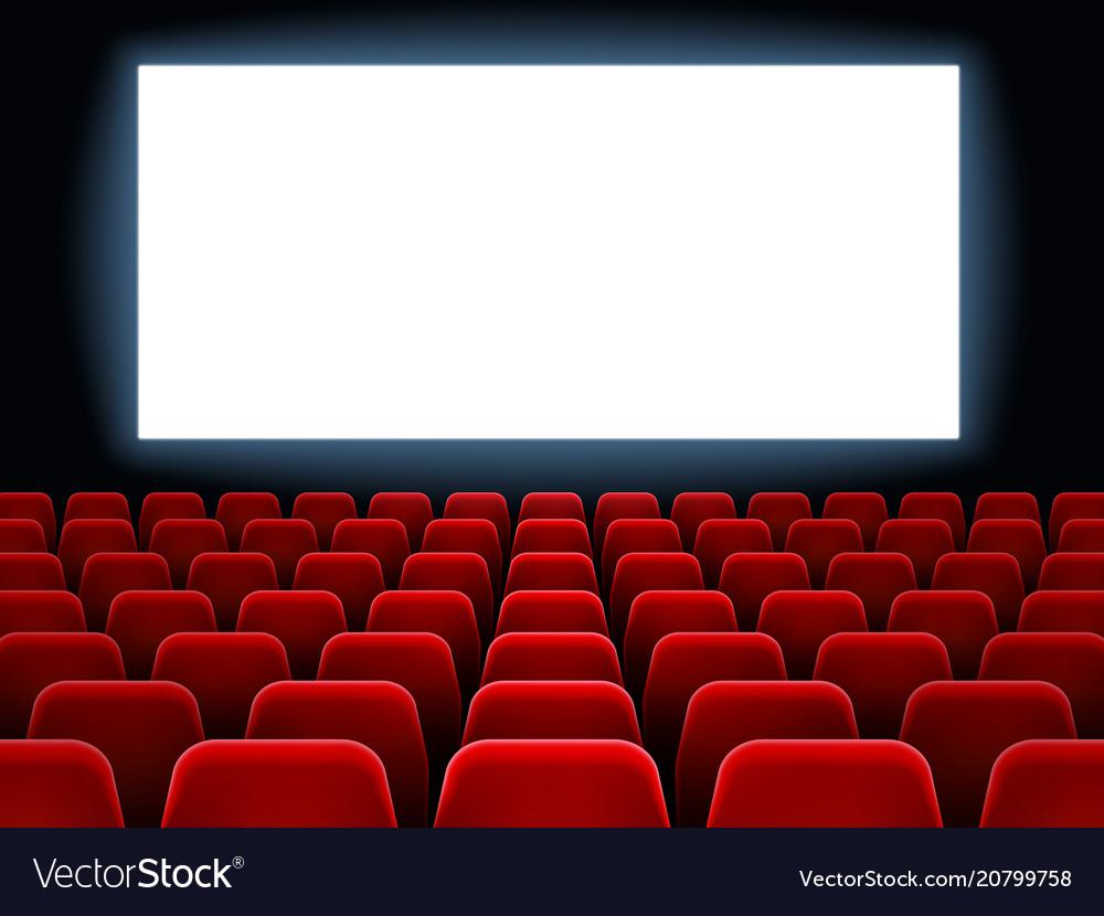 Movie premiere event at cine theatre cinema white vector image