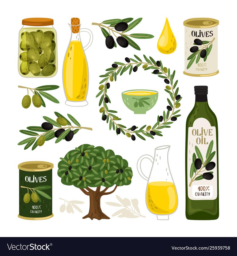 Olive symbols set