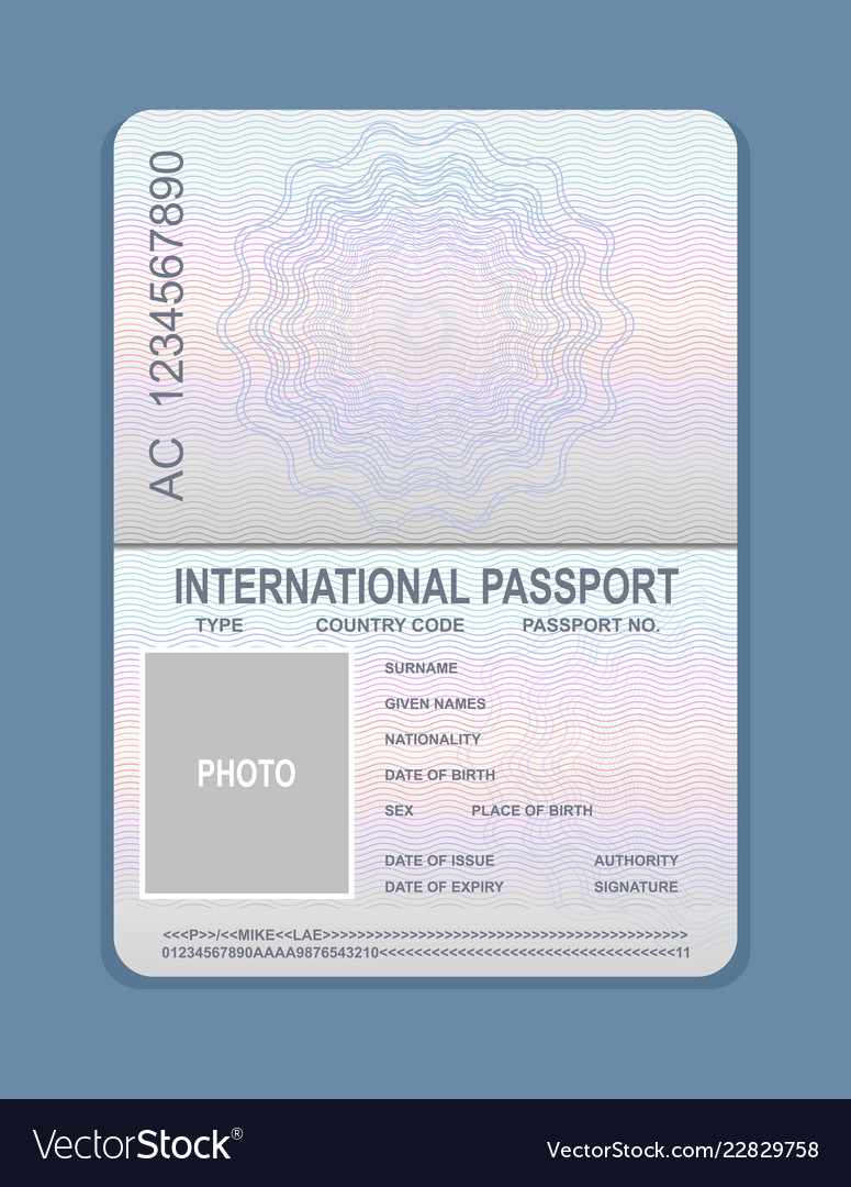 Open passport template