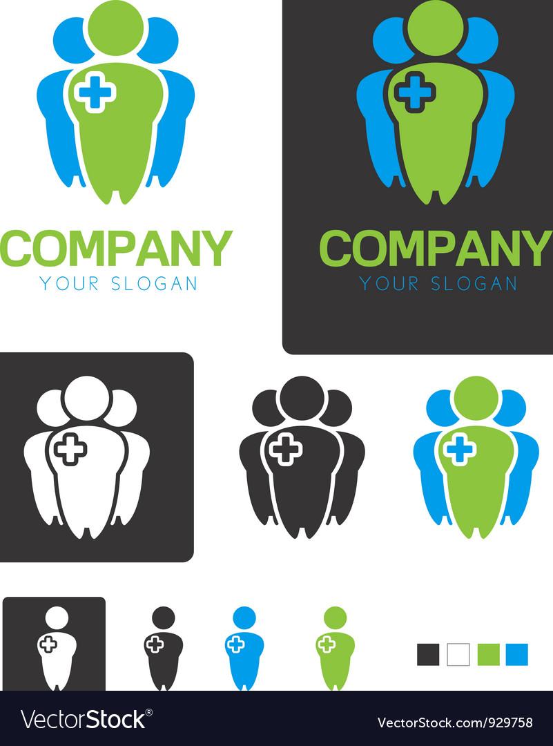 Social Health company identity logo template