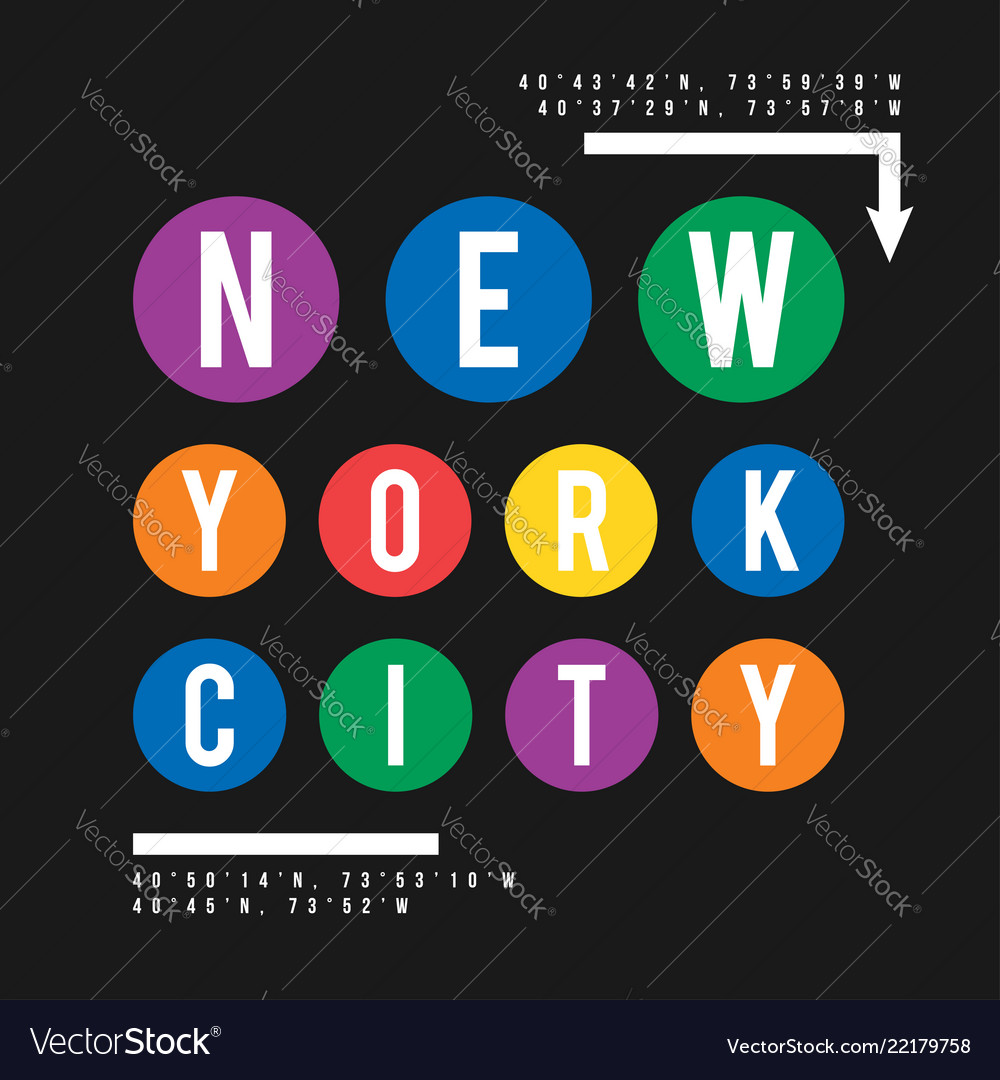 T-shirt design in the concept of new york city