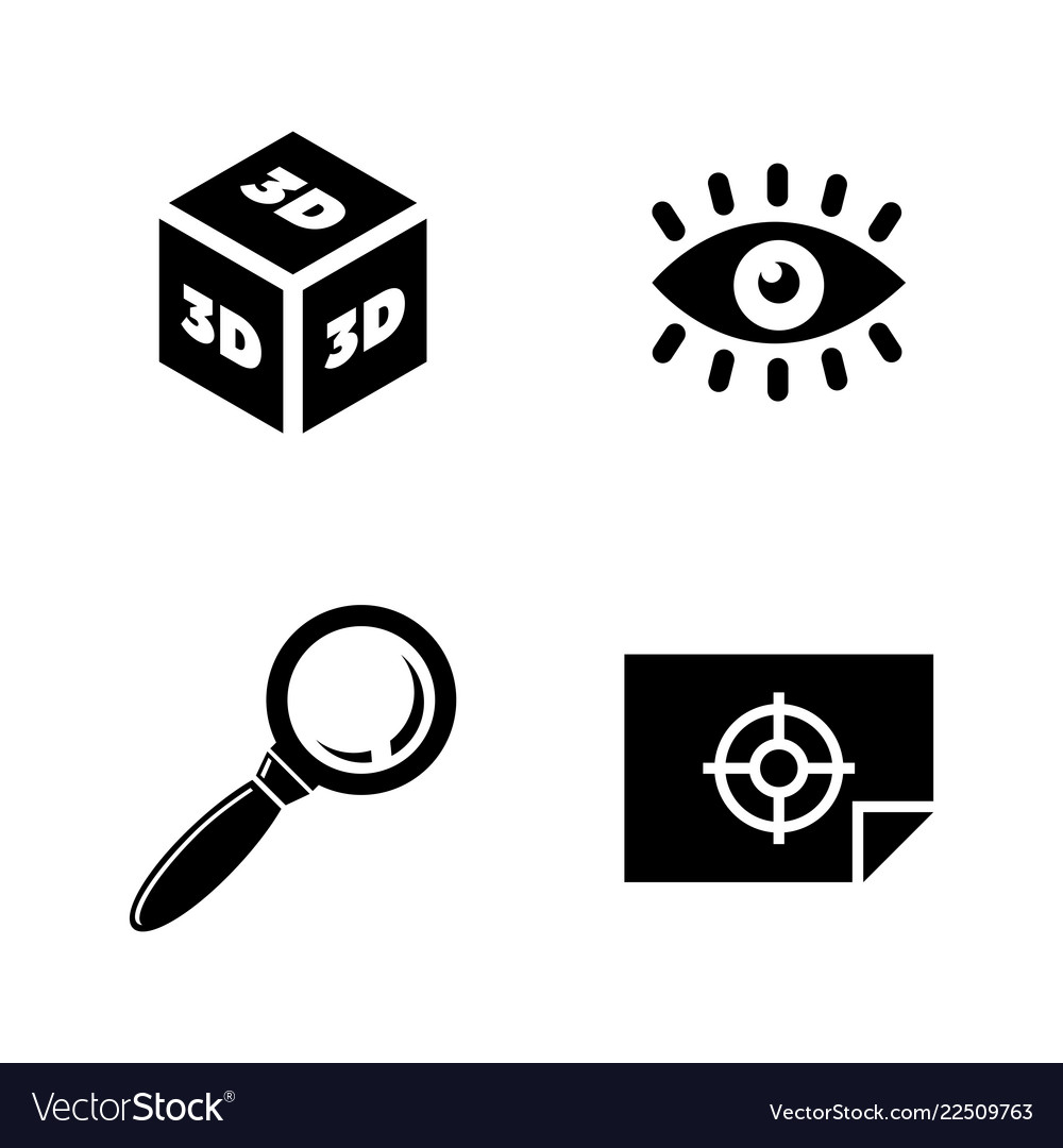 3d graphic design simple related icons