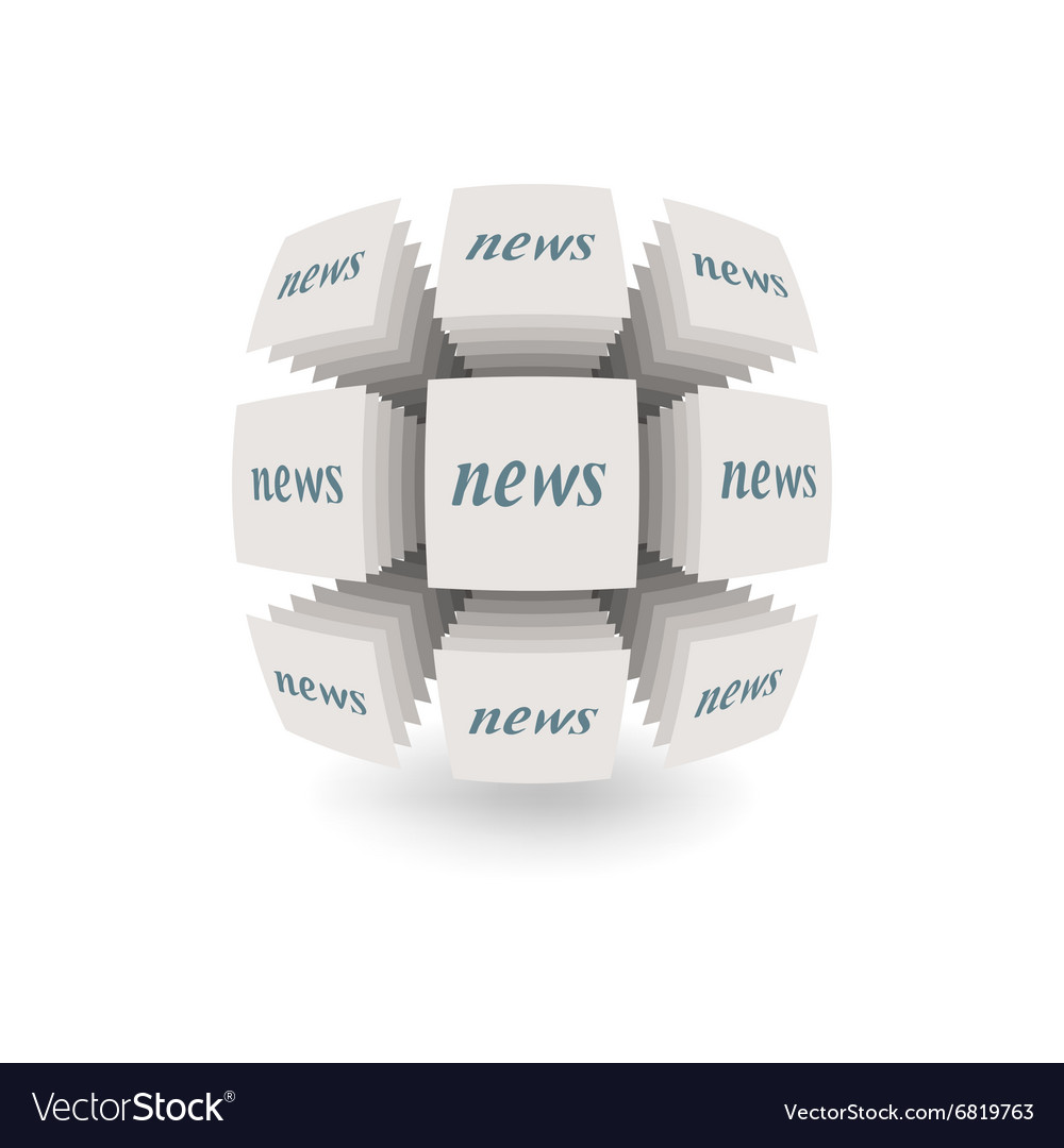 Abstract object News vector image