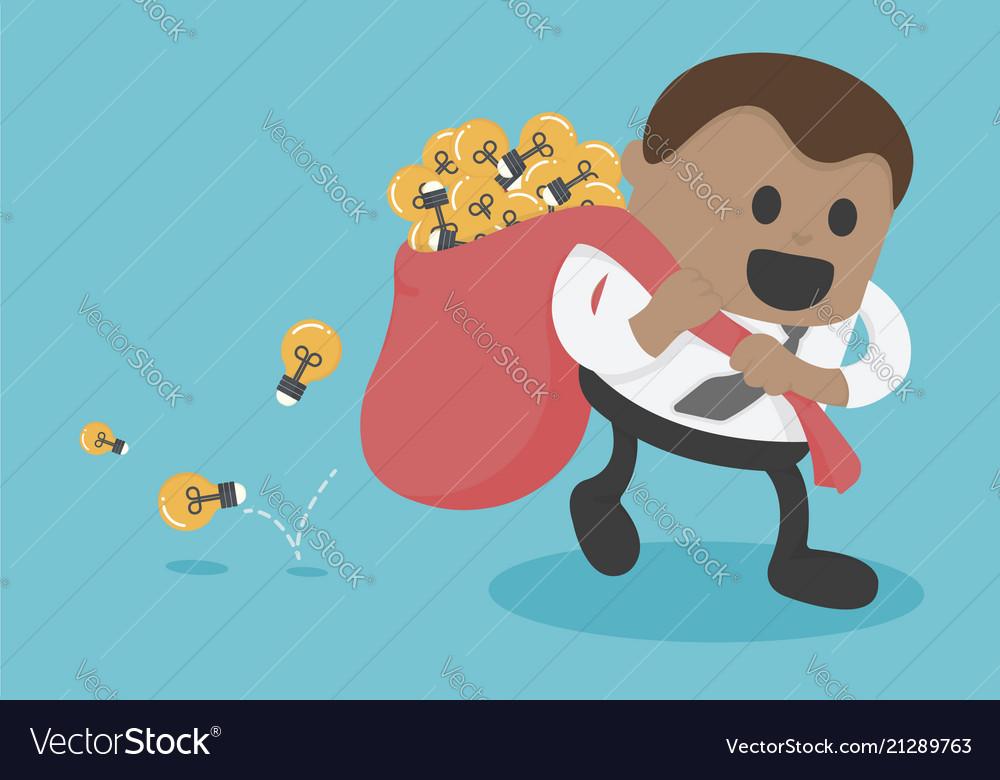 Business concept cartoon african businessman