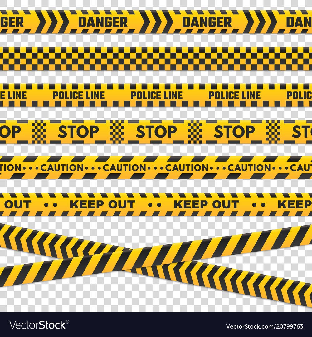 Caution perimeter stripes isolated black and