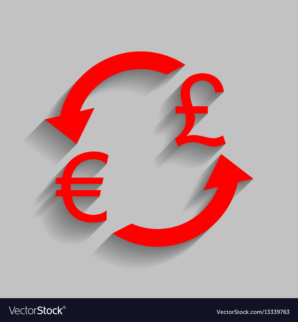 Sign Euro And Uk Pound Vector Image