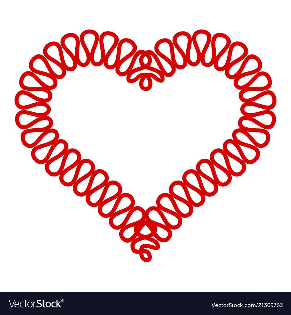 Heart symbol icon simple style
