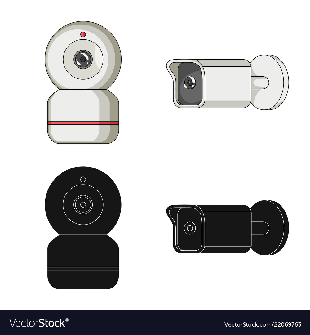 Isolated Object Of Cctv And Camera Symbol Vector Image