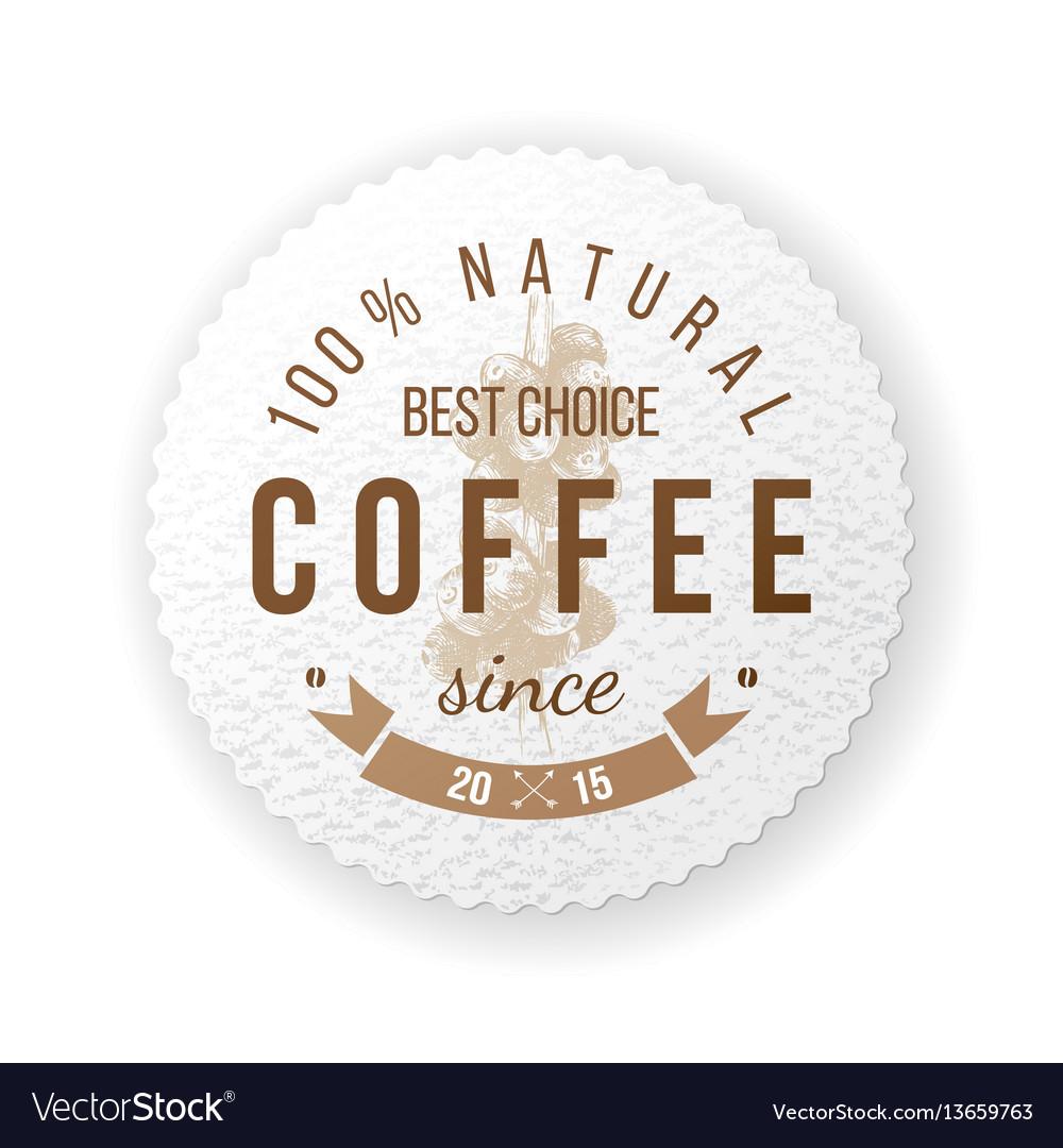 Round coffee emblem with type design