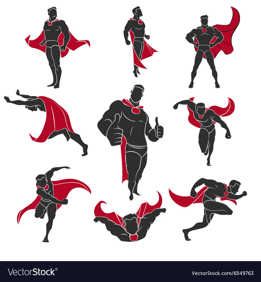 Superhero comics set