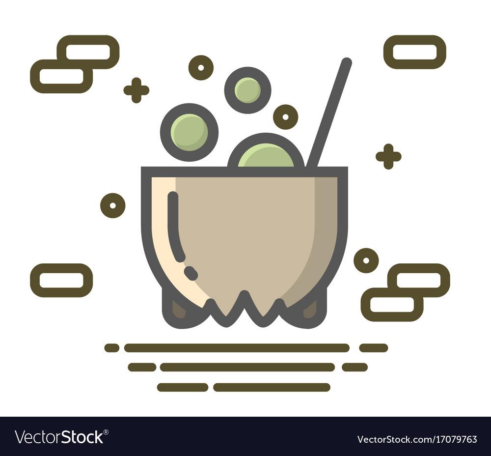 Witches cauldron symbol of halloween vector image