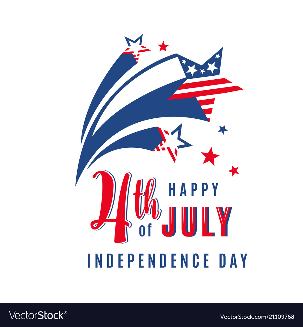 4th of july celebration holiday banner with