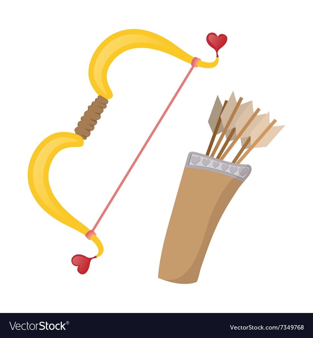 Cupids bows cartoon icon vector image