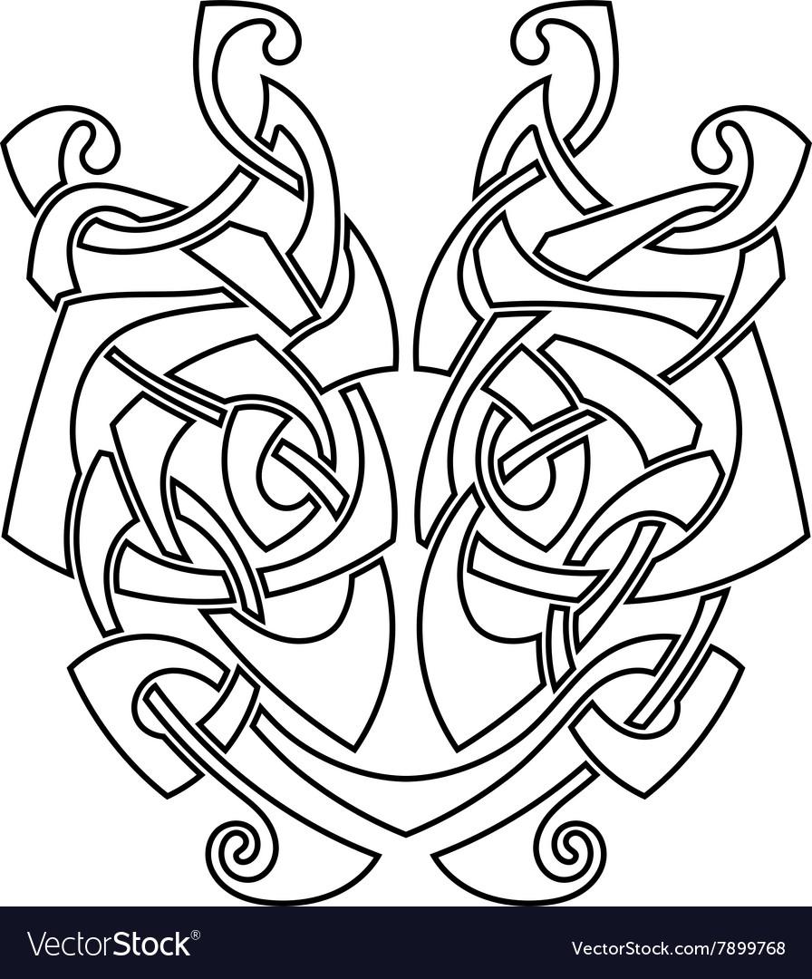 Elegant difficult curled ornamental gothic tattoo