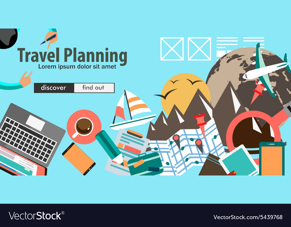 Flat Design Concept For Travel Organization and