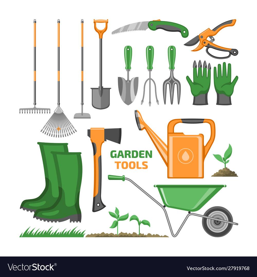 Garden tool gardening equipment rake shovel