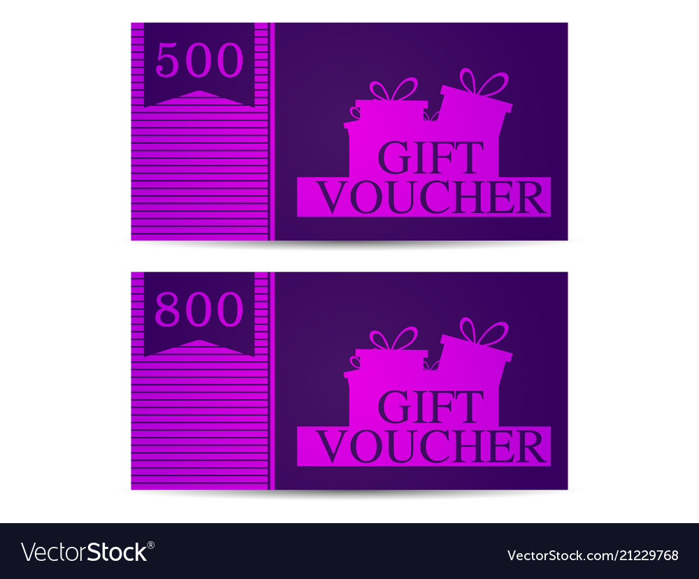Gift voucher with gift boxes in the amount of 500