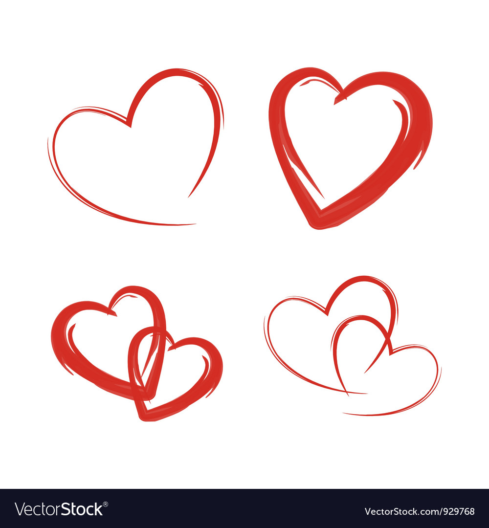 heart royalty free vector image vectorstock rh vectorstock com heart vectors for corel draw heart vector image