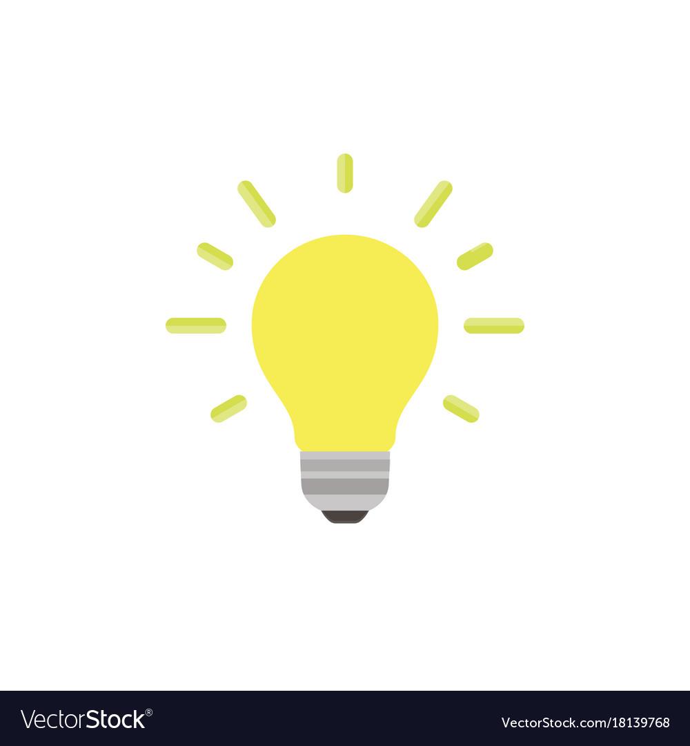 Light bulb icon isolated idea design art business vector image
