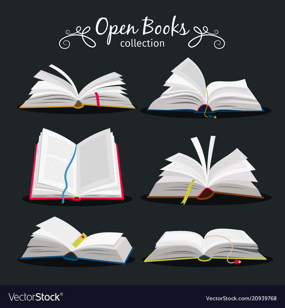 Open books new open book set with bookmark