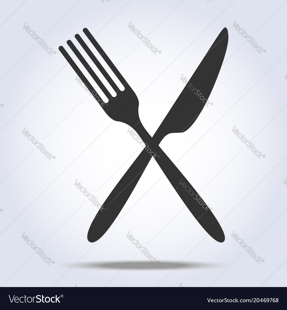 simple fork and knife icon royalty free vector image