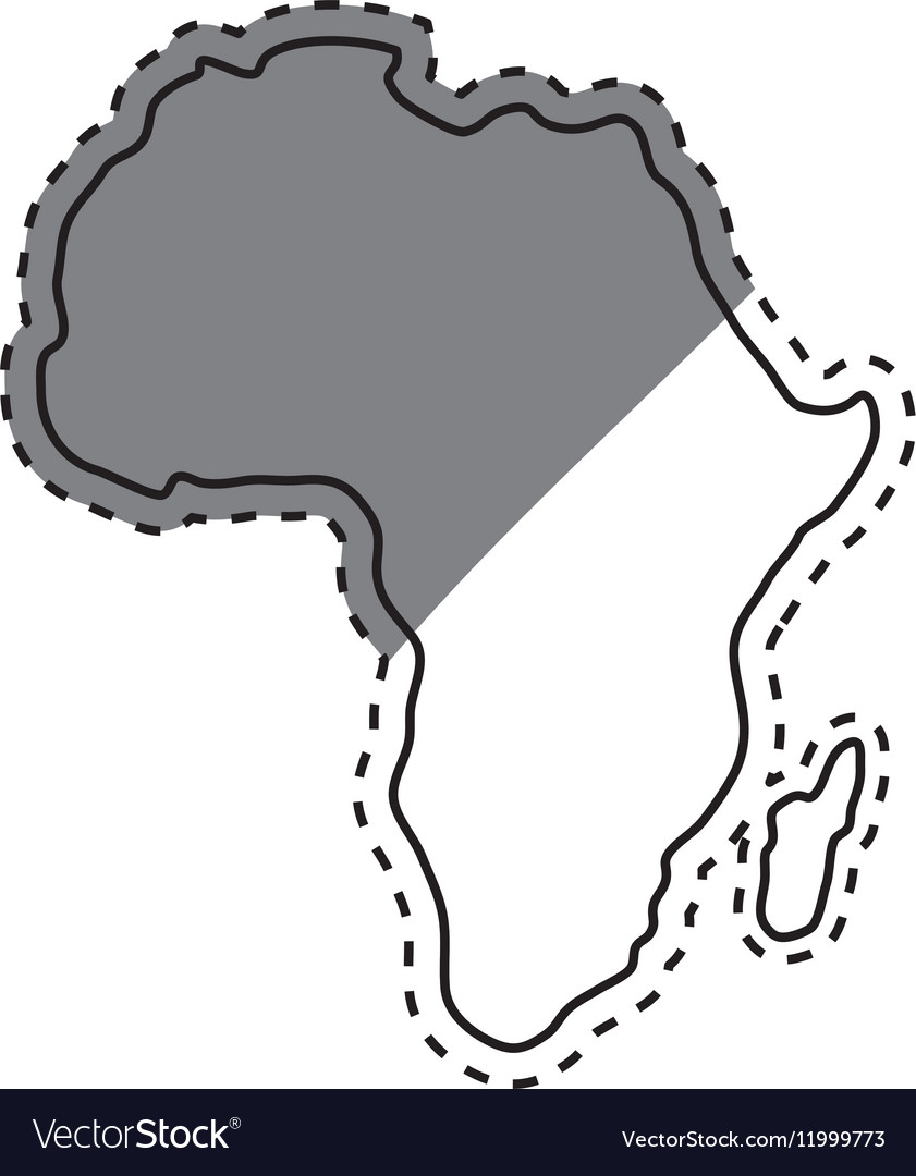 Africa Map Silhouette Vector.Africa Map Silhouette