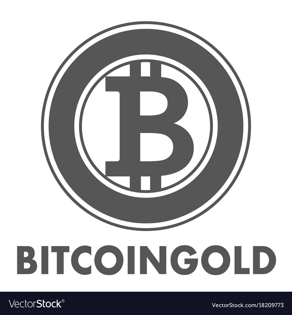Bitcoin gold sign icon for internet money